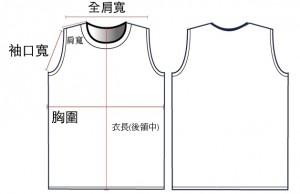 衣服示意圖